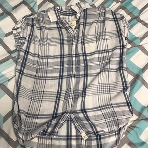American Eagle Flannel Short Sleeve